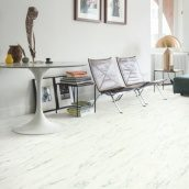 Вініл Quick-Step Ambient Rigid Click RAMCL40136 Marble Carrara White