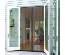 Москітна сітка на двері розміром 72х220 см на магнітах прошита