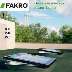 Мансардне вікно Fakro для плоских дахів типу F