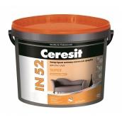 Интерьерная латексная краска Ceresit IN 52 SUPER База А матовая 10 л белая