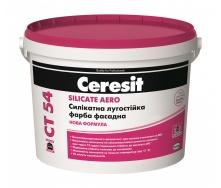 Краска силикатная фасадная Ceresit CT 54 SILICATE AERO База А 10 л
