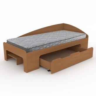 Кровать Компанит 90+1 лдсп 90х2000 мм ольха