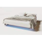 кровать 160 Бьянко белый глянец + дуб сонома Мир Мебели