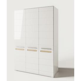 шафа 3Д Б`янко білий глянець + дуб сонома Світ Меблів