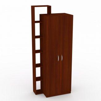 Шкаф-9 Компанит дсп яблоня двухдверный с полочками