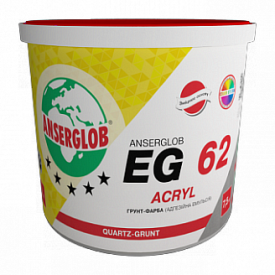 Грунт-краска Anserglob EG-62 акриловая ACRYL 5 л