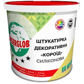 Декоративна силіконова штукатурка Anserglob короїд 2,5 мм 25 кг