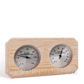 Термо-гигрометр прямоугольный Sawo