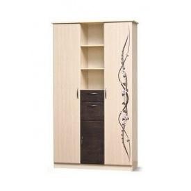 шкаф 3ДШ Сакура венге светлый + темный Мир Мебели