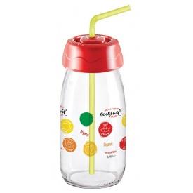Бутылка для сока и воды Sarina с трубочкой 250 мл (S-770-1)