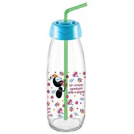 Бутылка для сока и воды Sarina с трубочкой 500 мл (S-764-2)
