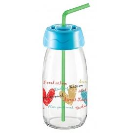 Бутылка для сока и воды Sarina с трубочкой 250 мл (S-770-2)