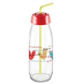 Бутылка для сока и воды Sarina с трубочкой 500 мл (S-764-3)