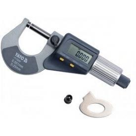 Мікрометр YATO з LCD цифровою шкалою точністю 0,01 мм 0 - 25 мм