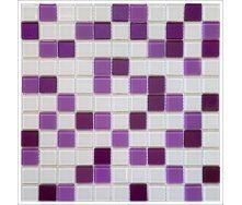 Скляна мозаїка Керамік Полісся Isabella white mix 300х300х4 мм
