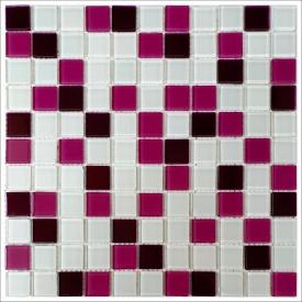 Скляна мозаїка Керамік Полісся Bordo viola mix 300х300х4 мм