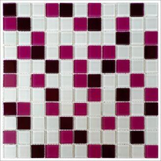 Стеклянная мозаика Керамик Полесье Bordo viola mix 300х300х4 мм