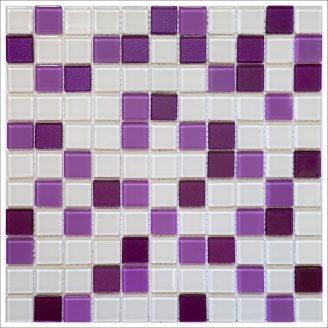 Стеклянная мозаика Керамик Полесье Isabella white mix 300х300х4 мм