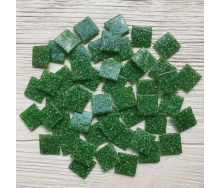 Скляна мозаїка Eco-Mosaic 20х20 мм 33х33 см зелена (DA405)