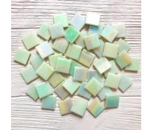 Скляна мозаїка Eco-Mosaic 20х20 мм 33х33 см оливкова (IA421)