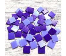 Скляна мозаїка Eco-Mosaic 20х20 мм 33х33 см фіолетова мікс (MC157)