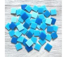 Скляна мозаїка Eco-Mosaic 20х20 мм 33х33 см синя мікс (MC154)