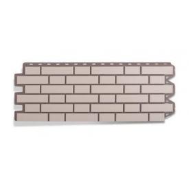 Фасадная панель Альта-Профиль Клинкерный кирпич 1220х440х20 мм Белый