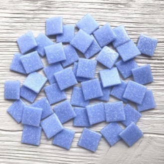 Скляна мозаїка Eco-Mosaic 20х20 мм 33х33 см блакитна (DA311)