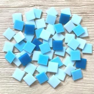 Скляна мозаїка Eco-Mosaic 20х20 мм 33х33 см блакитна мікс (MC155)