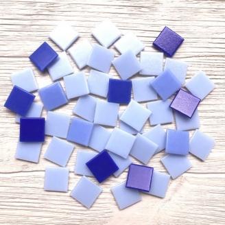 Скляна мозаїка Eco-Mosaic 20х20 мм 33х33 см світло-фіолетова мікс (MC156)
