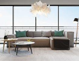 Універсальний скандинавський стиль: як вибрати м'які меблі для такої вітальні