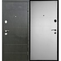 Двери входные Redfort ЭЛЕГАНТ Стандарт плюс венге темный горизонт/белое дерево 860х2040 мм