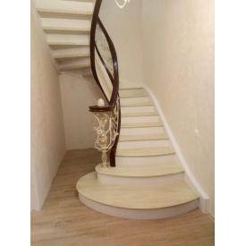 Изготовление дубовой спиральной лестницы