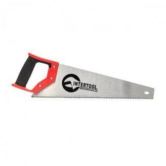 Ножівка по дереву з розжареним зубом 400мм INTERTOOL HT-3101 55 HRC