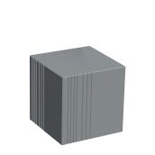 Бетонний Куб Золотий Мандарин 450мм Сірий
