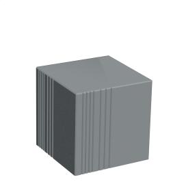 Бетонний Куб Золотий Мандарин 450мм Серый