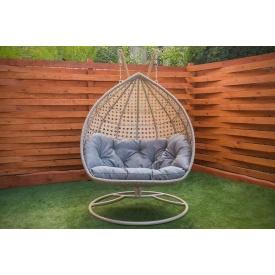 Плетеное подвесное кресло Дабл