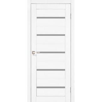 Дверное полотно Korfad PORTO PR-02 ясень белый сатин белый 700х2000 мм Sincrolam