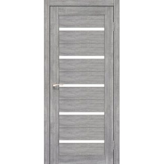 Дверное полотно Korfad PORTO PR-02 эш-вайт сатин белый 700х2000 мм Sincrolam
