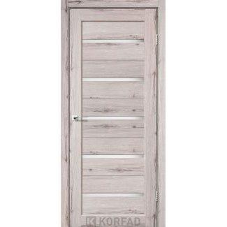 Дверное полотно Korfad PORTO PR-02 дуб нордик сатин белый 700х2000 мм Sincrolam