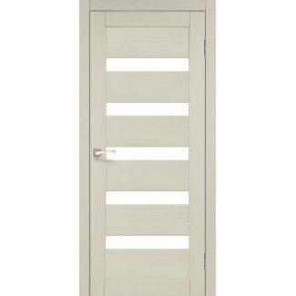 Дверное полотно Korfad PORTO PR-03 дуб беленый сатин белый 700 х2000 мм Sincrolam