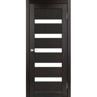 Дверное полотно Korfad PORTO PR-03 венге сатин белый 700 х2000 мм Sincrolam
