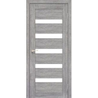 Дверное полотно Korfad PORTO PR-03 эш-вайт сатин белый 700 х2000 мм Sincrolam
