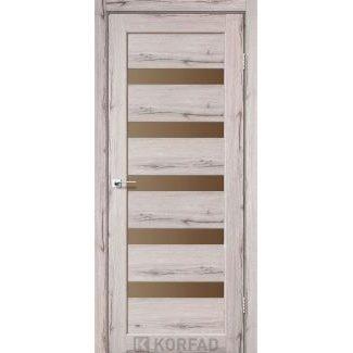 Дверне полотно Korfad PORTO PR-03 дуб нордік сатин бронза 700 х2000 мм Sincrolam
