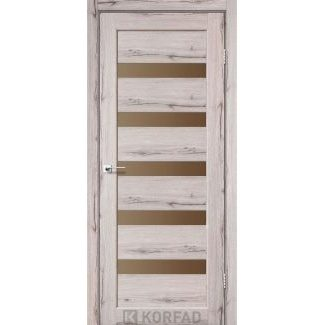 Дверное полотно Korfad PORTO PR-03 дуб нордик сатин бронза 700 х2000 мм Sincrolam