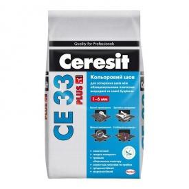 Затирка Церезіт СЕ 33 Plus 130 шов до 6 мм коричнева