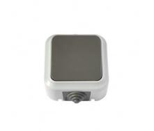 Выключатель Пралеска Аква 1-клавишный 6А IP54 серый (А1 6-222(03)