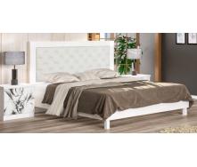 Ліжко Меблі-Сервіс Єва 204х172х120 см біла