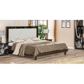 Ліжко Меблі-Сервіс Єва 204х172х120 см венге темний