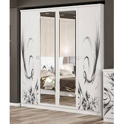 Шкаф 4д Мебель-Сервис Ева 214х201х58 см белый